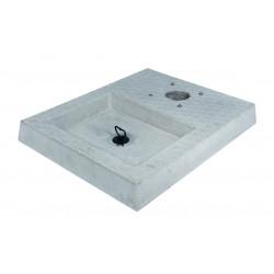 Socle en ciment avec bassin pour fontaine de jardin – 50 x 40 x 5 cm