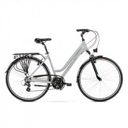 Vélo trekking Gazela 1 - 28 pouces en aluminium 6061 – Gris Vert – Taille M ou L