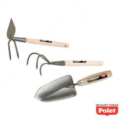 Kit d'outils de jardinage à main – Serfouette, transplantoir et cultivateur - POLET