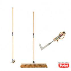 Lot d'outils de jardin pour l'entretien de dalles et pavés extérieurs - POLET