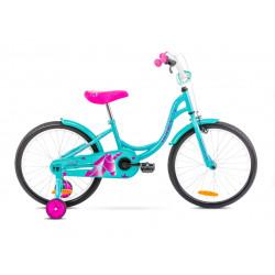 Vélo pour enfant Tola 20 pouces – Taille S en acier – Turquoise et Rose