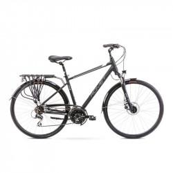 Vélo trekking Wagant 4 - 28 pouces en aluminium 6061 – Noir et Blanc – Taille M, L ou XL
