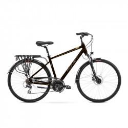 Vélo trekking Wagant 4 - 28 pouces en aluminium 6061 – Marron et Or – Taille M, L ou XL