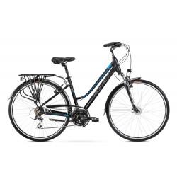 Vélo trekking Gazela 3 - 28 pouces en aluminium 6061 – Bleu Noir – Taille M ou L