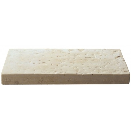Dalle de terrasse en pierre reconstituée 40 x 20 x 4 cm blanc