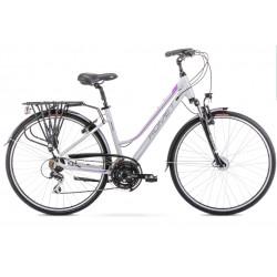 Vélo trekking Gazela 3 - 28 pouces en aluminium 6061 – Gris Violet – Taille M ou L