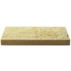 Dalle de terrasse en pierre reconstituée 40 x 20 x 4 cm camel