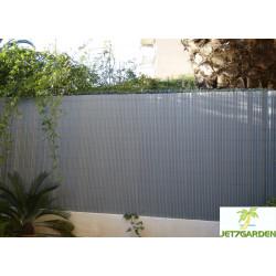 Canisse de jardin en PVC 250 x 180 cm gris perle