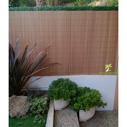 Canisse de jardin en PVC 250 x 150 cm Teck effet bois