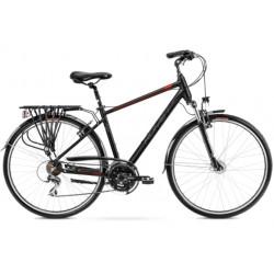 Vélo trekking Wagant 3 - 28 pouces en aluminium 6061 – Noir Rouge – Taille M ou L