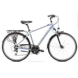 Vélo trekking Wagant 3 - 28 pouces en aluminium 6061 – Gris Bleu – Taille M ou L