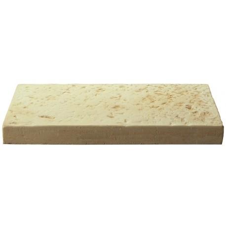 Dalle de terrasse en pierre reconstituée 40 x 20 x 4 cm ocre