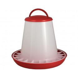 Mangeoire anti-gaspillage en plastique pour volailles – Capacité 6 kg – Diamètre : 37 cm