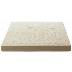 Dalle de terrasse en pierre reconstituée 40 x 40 x 4 cm blanc