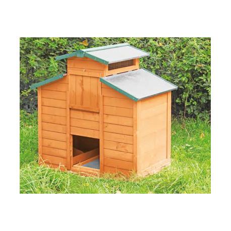 Poulailler Halifax en bois traité – Capacité 3 à 4 poules – 103 x 68 x 104 cm