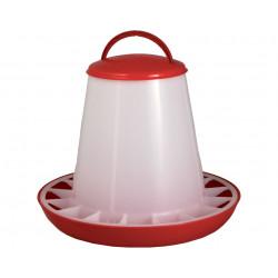 Mangeoire anti-gaspillage en plastique pour volailles – Capacité 3 kg – Diamètre : 25 cm