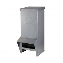 Mangeoire extérieure Gary en tôle galvanisée pour volailles – Contenance 17 kg – 33 x 22 x 55 cm