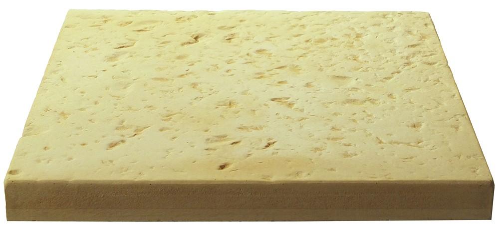 Dalle de terrasse en pierre reconstitu e 40 x 40 4 cm camel for Dalles en pierre reconstituee