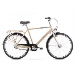 Vélo City Orion 3S - 26 pouces en aluminium 6061 - Or - Taille L