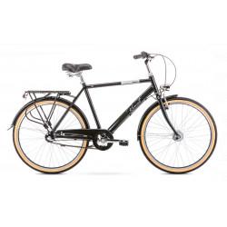 Vélo City Orion 3S - 26 pouces en aluminium 6061 - Noir - Taille L