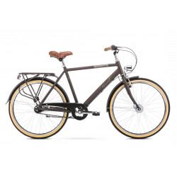 Vélo City Orion 7S - 26 pouces en aluminium 6061 - Marron - Taille L