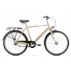 Vélo City Orion 7S - 26 pouces en aluminium 6061 - Champagne - Taille L