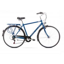 Vélo City Vintage M - 28 pouces en aluminium 6061 – Bleu foncé – Taille M et L