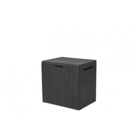 Coffre de rangement en résine City Cube - contenance 113 L - 58 x 44 x 55 cm