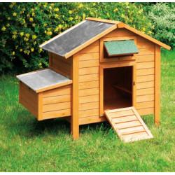 Poulailler Island Premium en bois traité – Capacité 6 à 8 poules – 130 x 80 x 115 cm