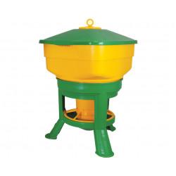 Mangeoire grande capacité Novital sur pieds pour volailles – Contenance 20 kg – 42 x 42 x 60 cm