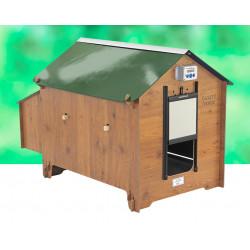 Poulailler en HPL aspect bois Venise – Capacité 6 à 8 poules - 150 x 93 x 96 cm
