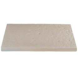 Dalle de terrasse en pierre reconstituée 60 x 40 x 4 cm Blanc