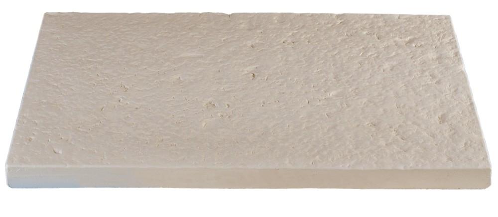 Dalle de terrasse en pierre reconstitu e 60 x 40 x 4 cm blanc - Dalle terrasse pierre reconstituee ...