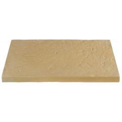 Dalle de terrasse en pierre reconstituée 60 x 40 x 4 cm Camel