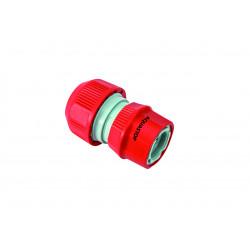 Raccord d'arrosage rapide auto-serrant aquastop pour tuyau d'arrosage de 13 ou 15 mm de diamètre