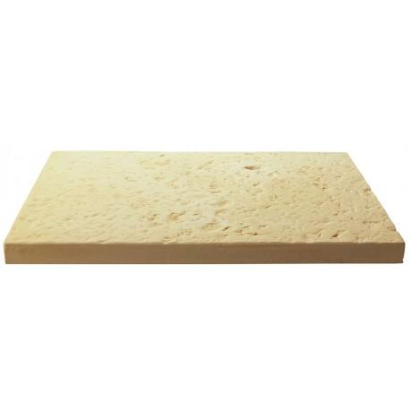 Dalle de terrasse en pierre reconstituée 60 x 40 x 4 cm Ocre