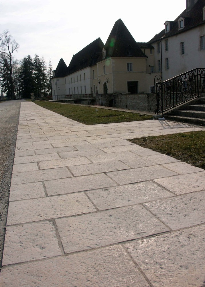Dalle terrasse pierre 40 x 60 4 cm ocre - Dalle jardin terrasse ...