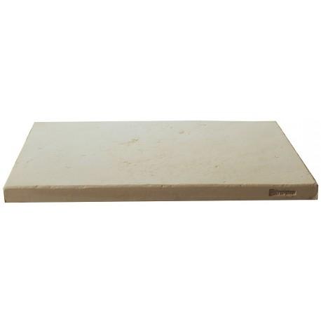 Dalle de terrasse en pierre reconstituée ep. 2,5 cm blanc, module de 1,15 m2