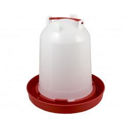 Abreuvoir siphoïde en plastique pour volailles – Contenance 6 L – 26 x 26 cm