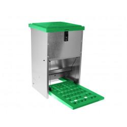 Mangeoire anti-gaspillage avec pédale pour volailles – Capacité 8 kg – 48 x 25 x 45 cm