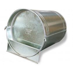 Abreuvoir seau galvanisé pour volailles – Contenance de 12L – 29 x 30 x 29 cm