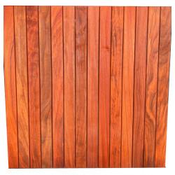 Dalle de terrasse en bois exotique Padouk – 100 x 100 x 3,8 cm