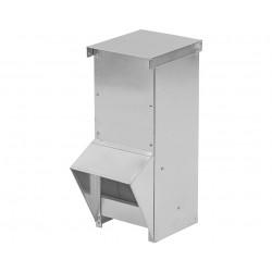 Mangeoire extérieure en tôle galvanisée pour volailles – Contenance 5 kg – 15 x 15 x 38 cm