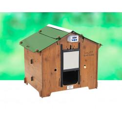 Poulailler Mini Farm en HPL aspect bois – Capacité 3 à 4 poules – 72 x 105 x 89 cm