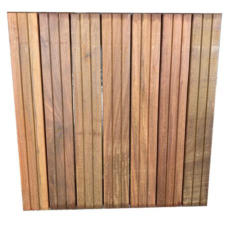 Dalle de terrasse en bois exotique IPE – 50 x 50 x 3,8 cm