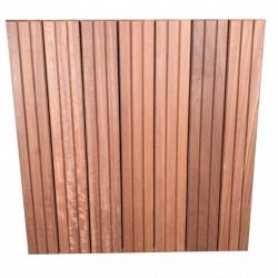 Dalle de terrasse en bois exotique Maçaranduba – 50 x 50 x 3,8 cm