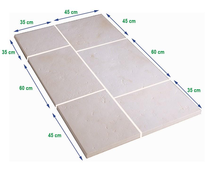 Dalle de terrasse en pierre reconstitu e ep 4 cm blanc - Dalle terrasse pierre reconstituee ...