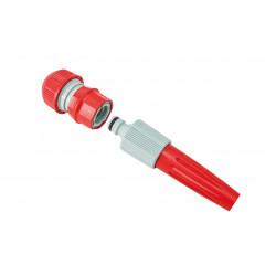 Mini kit avec raccord auto-serrant pour tuyau Ø int. 19 mm et lance réglable