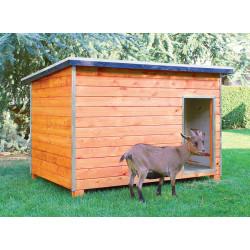 Abri extérieur en bois pour mammifères – 178 x 120 x 125 cm