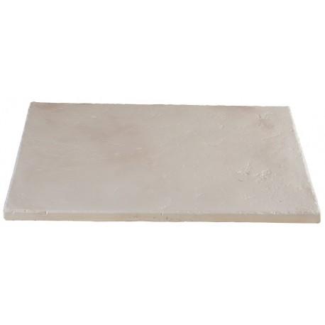 Dalle de terrasse en pierre reconstituée ep. 4 cm Blanc Nuancé, module de 1,15 m2